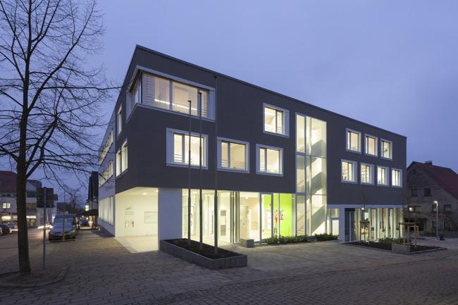 Treppenhaus architektur aussen  Rathaus Extertal - Halfmann Architekten