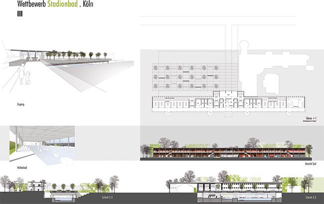 Stadionbad Plan